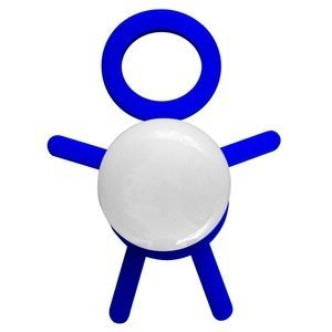 Abajur Cromalux Stickman Azul