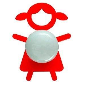 Abajur Cromalux Stickgirl Vermelho