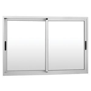 Janela de Correr Alumínio 2 Folhas MGM Project 120cmx100cm Vidro Liso Incolor Branco