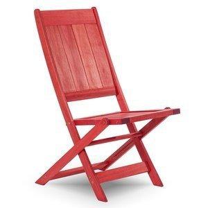 Cadeira Dobrável Acqualung sem Braços Mão e Formão Vermelho
