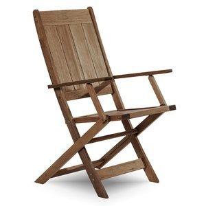 Cadeira Dobrável Acqualung com Braços Mão e Formão Nogueira