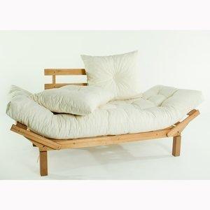 Sofá Cama Country Comfort (com almofada)Cru 1854-2 Mão e Formão Jatobá