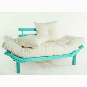 Sofá Cama Country Comfort (com almofada) 1854-2 Mão e Formão Azul