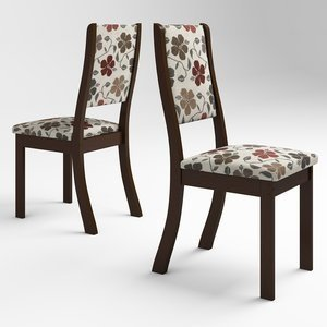Conjunto 2 Cadeiras Kiara Viero Choco/Passion
