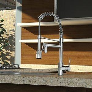 Misturador Monocomando Gourmet para Cozinha com Ducha Manual Eternit Seattle 2266 - E76 1/2'' Cromado