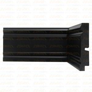 Rodapé Black Santa Luzia 3444 20mmx9,6cm Metro Linear Preto