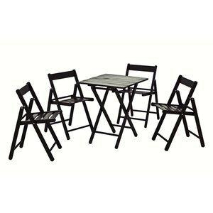 Conjunto Mesa e 4 Cadeiras Dobráveis Aconchego Tramontina Tabaco