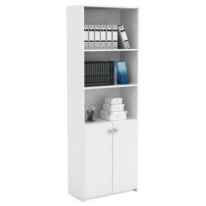 Estante para Livros com 2 Portas Office Siena Móveis Branco