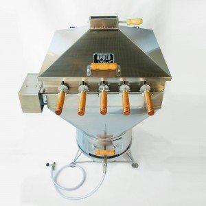 Churrasqueira a Bafo Gás ou Carvão 220V Inox Aisi 304 Apolo Plus Inox