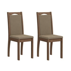 Conjunto 2 Cadeiras Lívia Cimol Savana/Suede Marfim