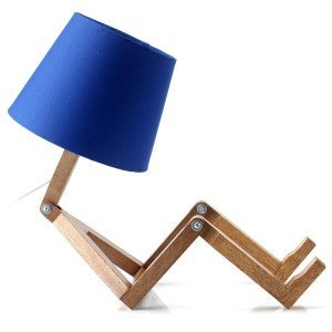 Abajur Woody Cromalux Azul