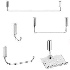 Kit acessórios para Banheiro com 5 Peças Docol Idea Cromado