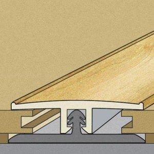 Junta de Dilatação Tecno Eucafloor 10mm x 3,4cm  x 1,8m (Barra) Acácia Andorra