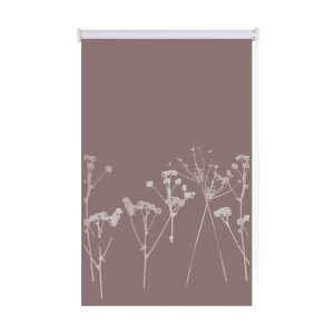 Persiana Rolô Blackout Taupe Floral Isadora Design 1,60m x 1,20m Taupe Floral