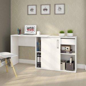Escrivaninha 1 Porta Flex Montagem Treviso Web Gebb Work Branco