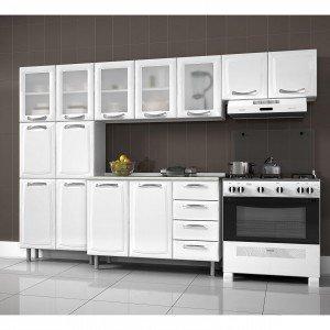 Cozinha Compacta 4 Peças com Balcão Premium Itatiaia Branco