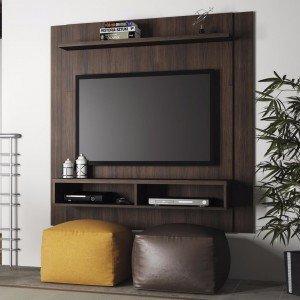 Painel para TV até 42 Polegadas Capri Linea Brasil Chocolate Wood