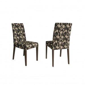 Conjunto 2 Cadeiras Estofadas Madesa Rustic/Cacau