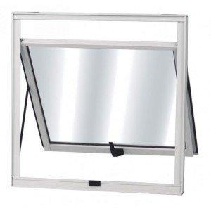 Máximo ar Alumínio 1 Folha MGM Soft 40cmx60cm  Vidro Mini Boreal Fosco