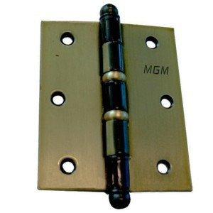 Dobradiça MGM 3 Unidades com Parafusos e Anel 3x2,5 Polegadas Bronze Latonado