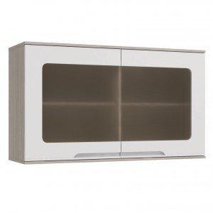 Armário de Cozinha Aéreo 2 Portas D667 Solaris Kappesberg Carvalle/Branco