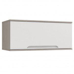 Armário de Cozinha Aéreo 1 Porta D670 Solaris Kappesberg Carvalle/Branco