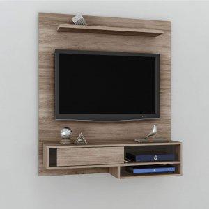 Painel para TV até 50 polegadas Orleans Móveis Leão Acácia