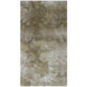 Tapete Clássico Liso Silk Shaggy Niazitex 1,40m x 2,00m Marfim
