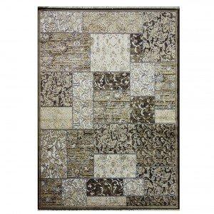 Tapete Retangular Belga Nativo Abstrato Niazitex 2,00m x 2,50m Marrom