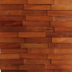 Revestimento de Madeira Wood Line Esplendor Filete Relevo 30cmx30cm Garapeira