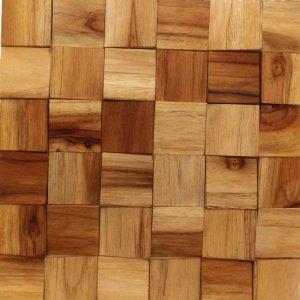 Revestimento de Madeira Wood Line Esplendor Cunha Relevo 30cmx30cm Teca