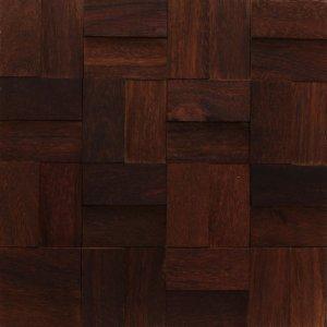 Revestimento de Madeira Wood Line Esplendor Labirinto Relevo 30cmx30cm Sucupira