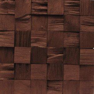 Revestimento de Madeira Wood Line Requinte Relevo 30cmx30cm Madeira Mista Cobre