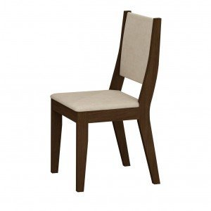 Conjunto 2 Cadeiras Isis Rufato Castor/ Veludo Creme