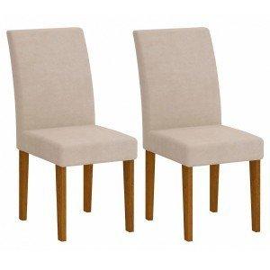 Conjunto 2 Cadeiras Grecia Rufato Imbuia/ Veludo Creme