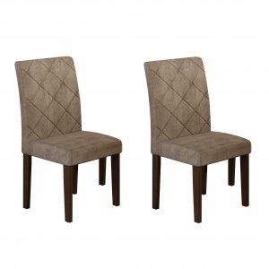 Conjunto 2 Cadeiras Irlanda Rufato Castor/Animalle Chocolate