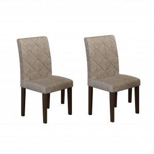 Conjunto 2 Cadeiras Irlanda Rufato Castor/Chocolate