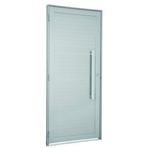 Porta de Alumínio com Puxador Alumifort Sasazaki 216cmx88cm Branco