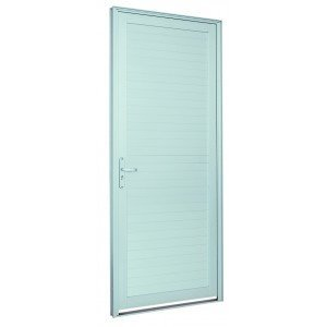 Porta de Alumínio Alumifort Sasazaki com 1 Folha 216cmx98cmx5,4cm Branco