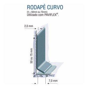 Rodapé Vinílico de Aba Curva Tarkett 5cm Metro Linear 107