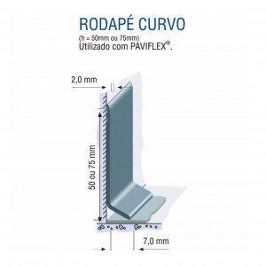 Rodapé Vinílico de Aba Curva Tarkett 5cm Metro Linear 802