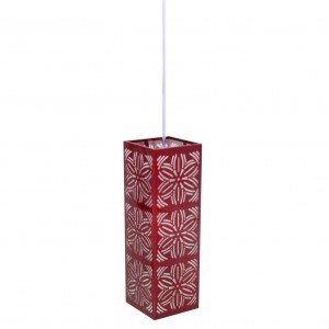Pendente Aço Inox com 1 Lâmpada LED Renda 101 Taschibra Vermelho Metálico