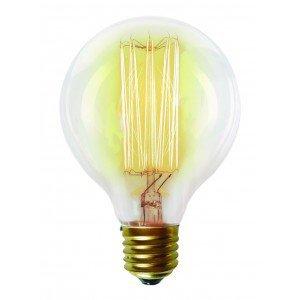 Lâmpada Filamento De Carbono G80 Taschibra 220V Luz Amarela 2200K