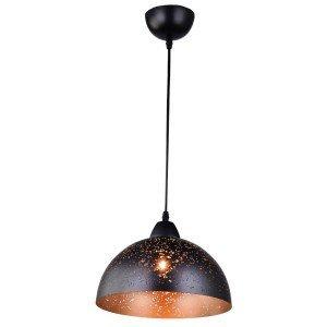 Pendente Cúpula em Aço Estrelar TD 3011 Taschibra Preto