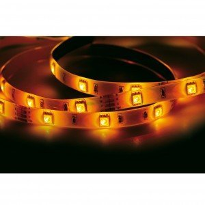 Fita LED 2,5W 30 LEDs/metro 5m Bivolt Taschibra Luz Amarelo