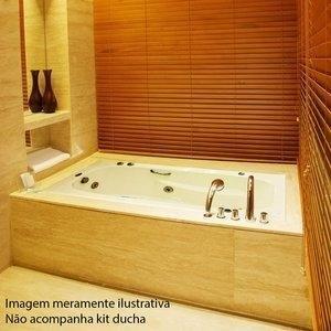 Banheira de Hidromassagem Ouro Fino Tulipacril Premium 1,65m x 80cm x 40cm 04 Jatos