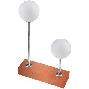 Abajur Bola Duplo 3009 Pantoja & Carmona Bronze/Cobre