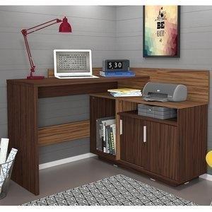 Escrivaninha Mega Office Olivar Castanho /Amêndoa