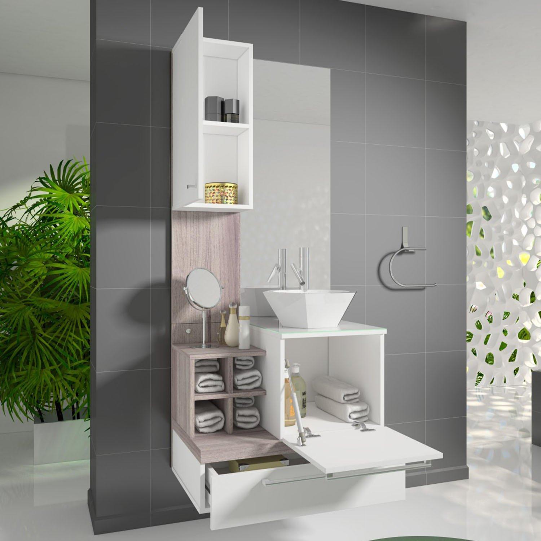 Gabinete para Banheiro com Espelheira Ravenna Celta Móveis (Acompanha  #416610 1500 1500