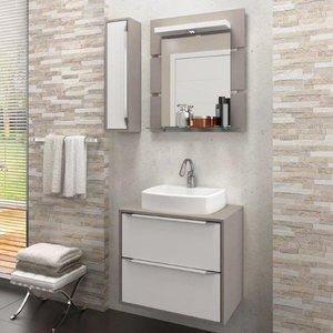 Gabinete Suspenso para Banheiro com Espelheira Ravena 60 Balcony (Não acompanha Cuba) Supremo/Connect
